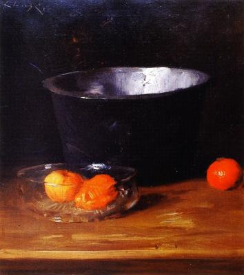 Уильям Меррит Чейз. Натюрморт с мандаринами