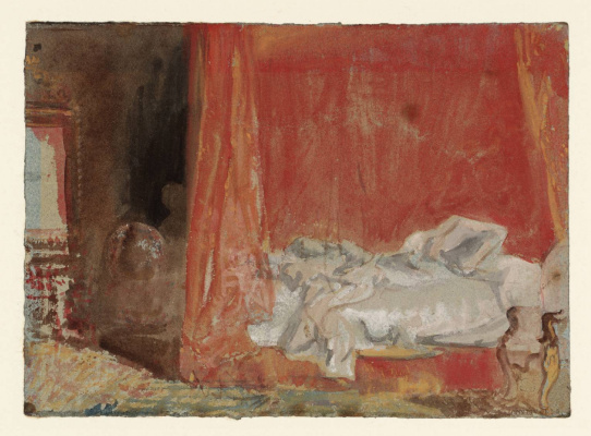 Joseph Mallord William Turner. Bedroom: empty bed