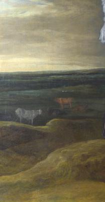 Франс Хальс. Пейзаж с семьей. Фрагмент 2. Пейзаж