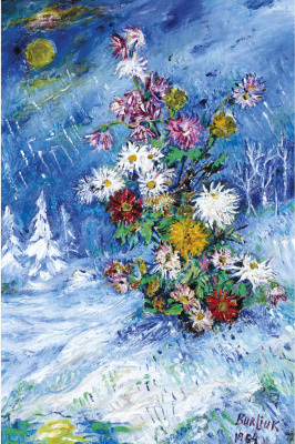 David Davidovich Burliuk. Flowers in the snow