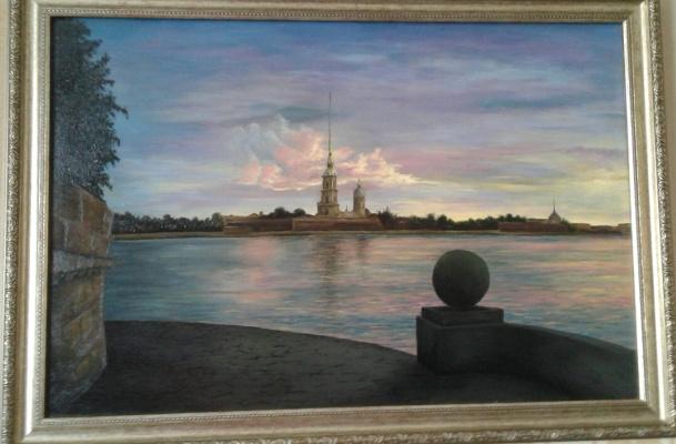 Koroleva Tatyana. Sunset on the Neva