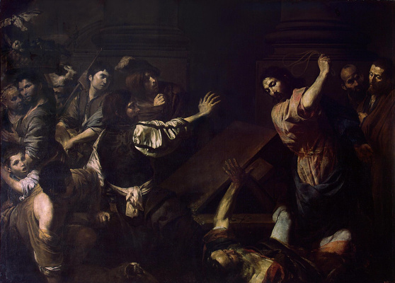 Valentin de Boulogne. The expulsion of the merchants from the temple