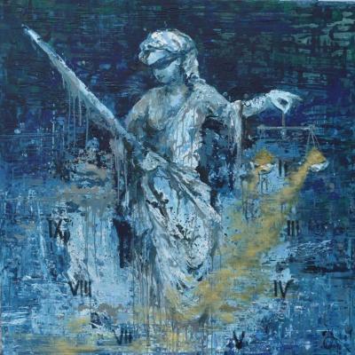 "Tanya Vasilenko. Time will judge. From ""Time"" artworks series"