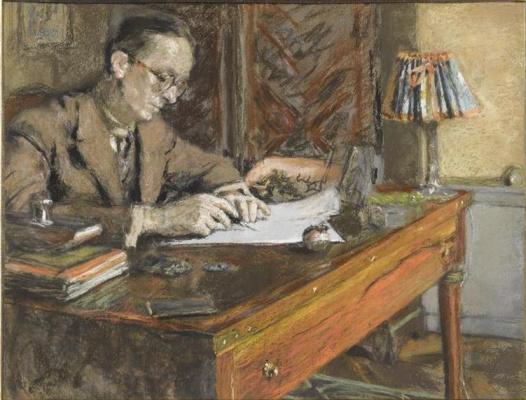Жан Эдуар Вюйар. Жан Жироу за столом