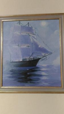 Lilya Fedorova. Sailboat. Calm.
