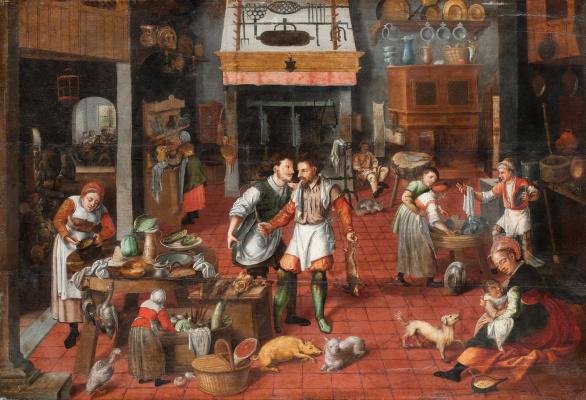 Мартин ван Клеве. Интерьер кухни