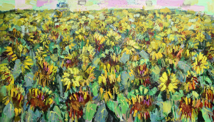 Ilya Pavlovich Spichenkov. Field of mature sunflowers