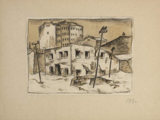 Улица зимой. Из альбома «На улицах Москвы. 1919–1922»