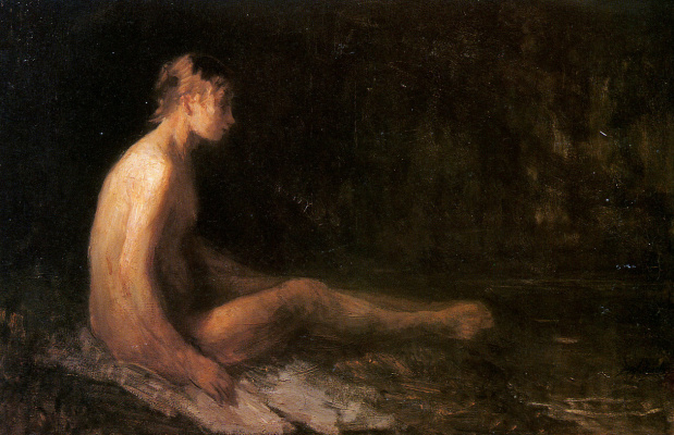Joseph Israel. Nude at the well