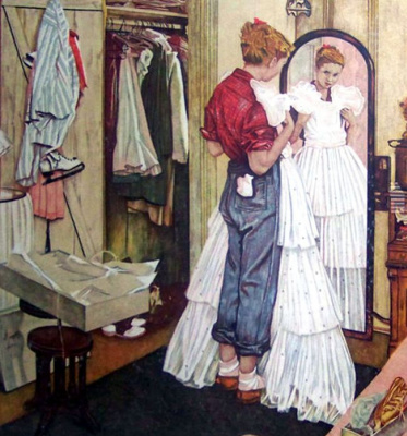 Norman Rockwell. In front of the mirror