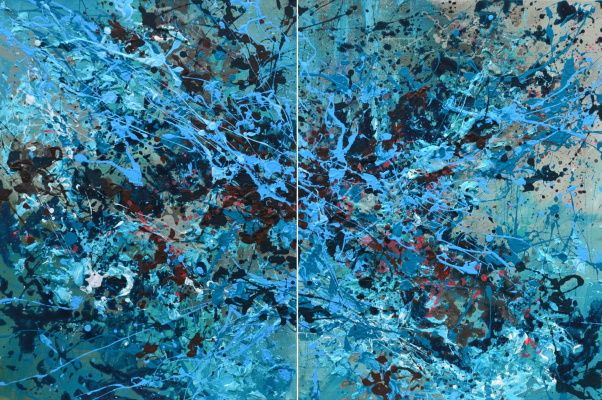 "Tanya Vasilenko. ""Deep knowledge"". Diptych. Acrylic on canvas. Underlying cognition, diptych, both parts Acrylic on Canvas. 2016."