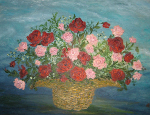 Rita Arkadievna Beckman. A bouquet of roses