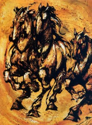 Мари-Андре Леблон. Бег лошадей