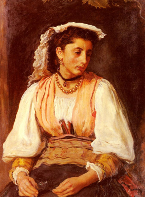 John Everett Millais. Pippa. Portrait of Italian women