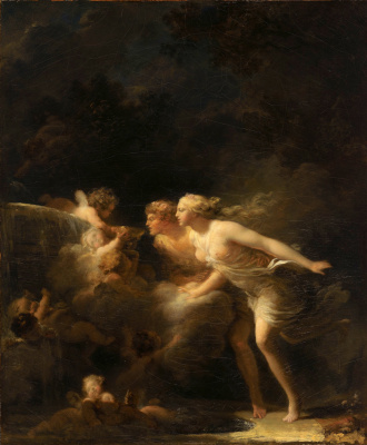 Jean-Honore Fragonard. Fountain of love