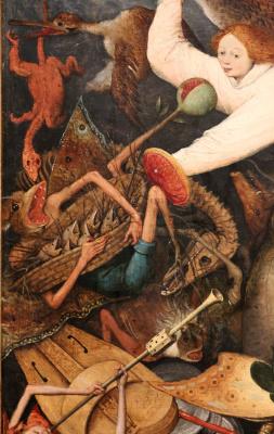 Питер Брейгель Старший. Падение мятежных ангелов. Фрагмент 10