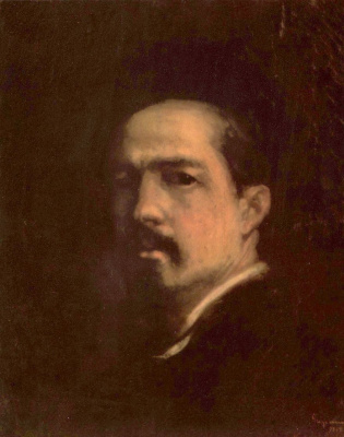 Nicolae Grigorescu. Self-portrait