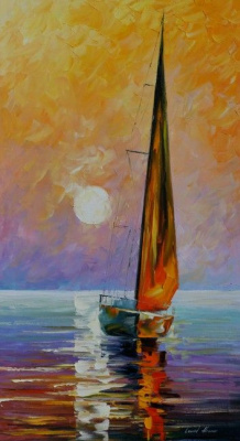 Leonid Afremov. Golden sail