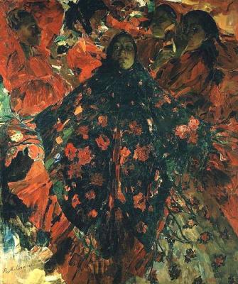 Philip Andreevich Malyavin. Women (Green shawl)