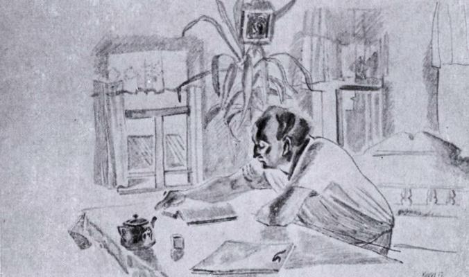 Виктор Ефимович Попков. Карл за столом