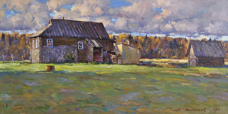 Alexander Victorovich Shevelyov. House Butovogo.Oil on canvas 30 # 60 cm, 2009
