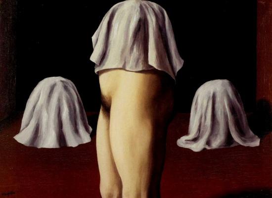 René Magritte. A symmetrical focus