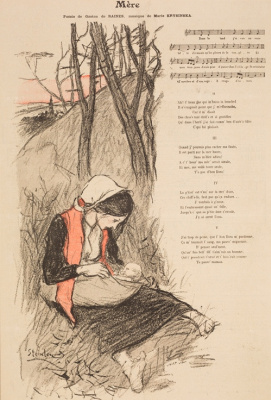 Theophile-Alexander Steinlen. Mother. Illustration for the poem by Jean Richepin
