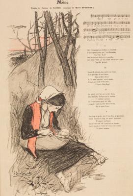 Теофиль-Александр Стейнлен. Мать. Иллюстрация к стихотворению Жана Ричепина