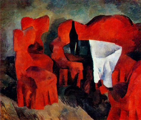 Robert Rafailovich Falk. Red furniture