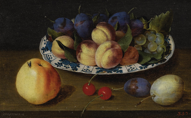Jakob van Hülsdonk. Still life with fruits