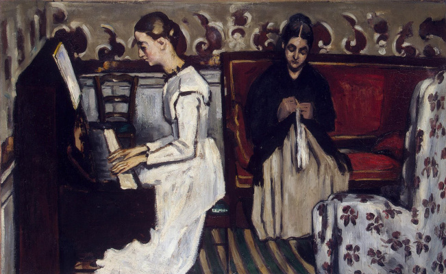 Paul Cezanne. Girl at the piano