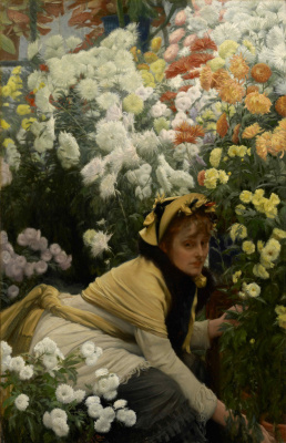 Джеймс Тиссо. Хризантемы