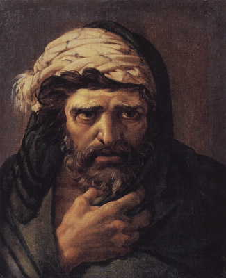 """Nikolai Nikolaevich Ge. The Head Of Judas. A sketch for the painting """"the last supper"""""""