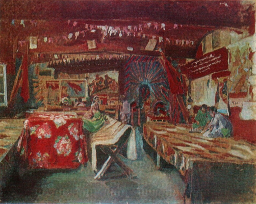 Pavel Petrovich Benkov. Red teahouse