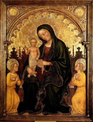 Мадонна с Младенцем и двумя ангелами