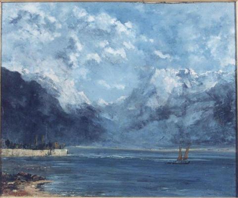 Гюстав Курбе. Вид Женевского озера