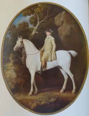 George Stubbs. Self portrait on a horse