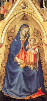 Фра Беато Анджелико. Мадонна с Младенцем на троне. Алтарь святого Петра Мученика