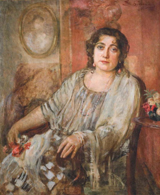 Евгений Иосифович Буковецкий. Female portrait in the interior