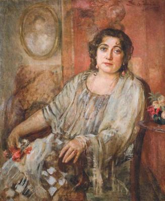 Евгений Иосифович Буковецкий. Female portrait in the interior