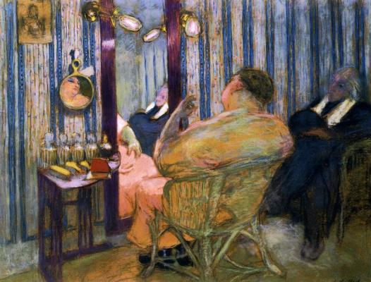 Jean Edouard Vuillard. Sacha Guitry in the dressing room