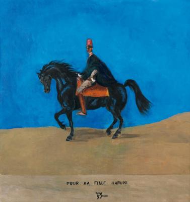 Balthus (Balthasar Klossovsky de Rola). Self-portrait on the horse. Memories of Morocco