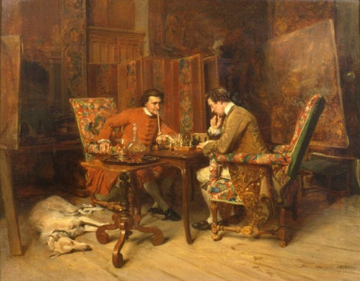 Jean Louis Ernest Meissonier. Game of chess