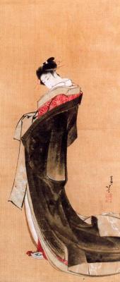 Katsushika Hokusai. Geisha