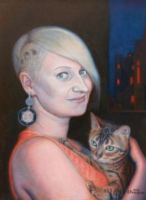 Stepan Vladimirovich Kashirin. Girl with cat