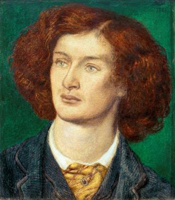 Dante Gabriel Rossetti. Portrait of Algernon Charles Swinburne