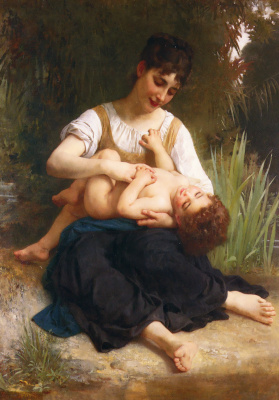 Адольф Вильям Бугро. Девушка с ребенком.