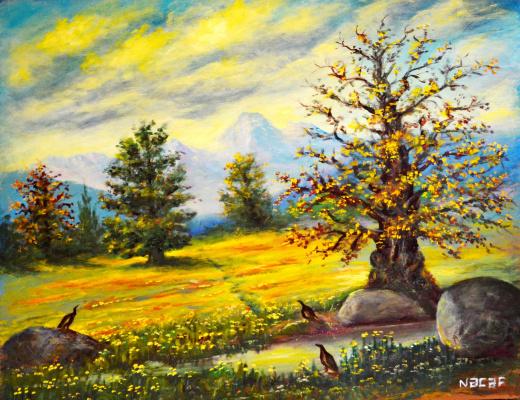 Наджаф Мамедов. В Талшских горах