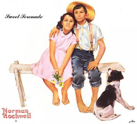 Norman Rockwell. Sweet Serenade