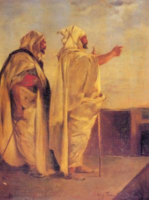Эжен Фромантен. Два араба на террасе